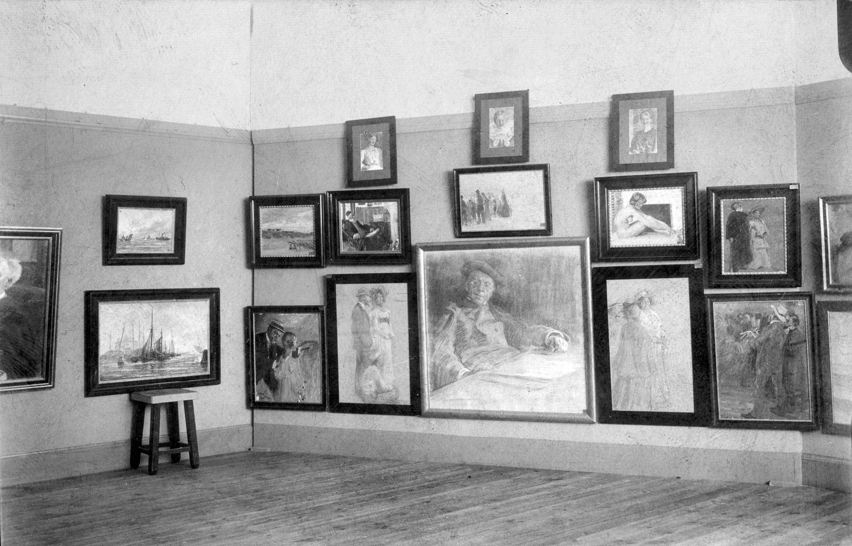 Udstilling, Teknisk skole, Skagen (ca. 1908)