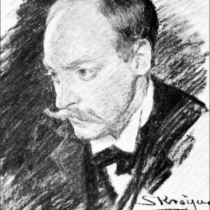 Hugo Alfven. Tegning af P.S. Krøyer