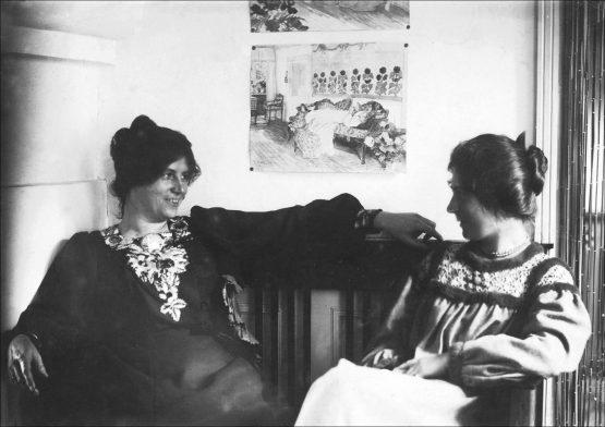 Agnes Slott-Møller og Marie Krøyer på Skagen oktober 1898