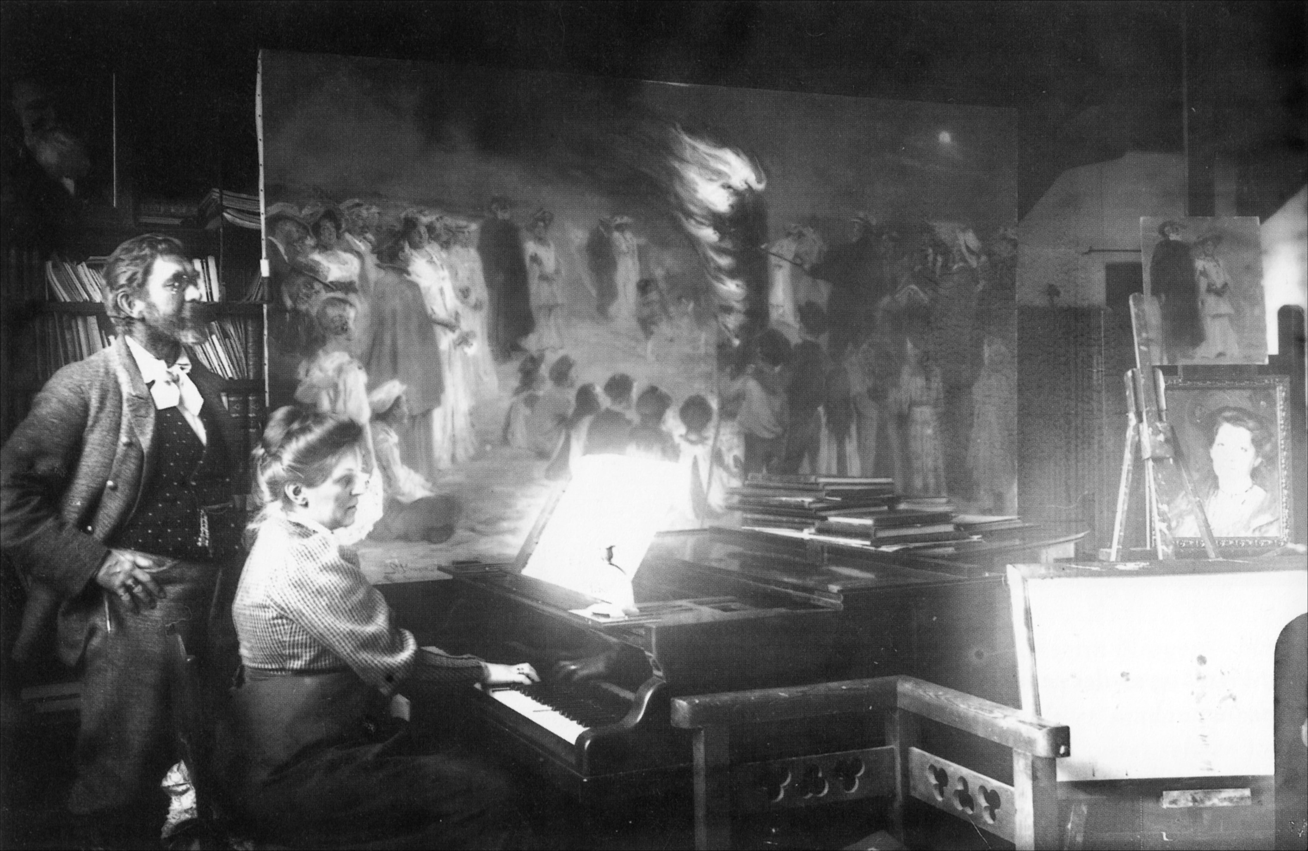 P.S. Krøyer & Henny Brodersen ved piano