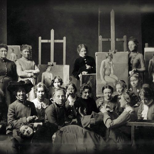 Modelklassen. Kunstskolen for kvinder