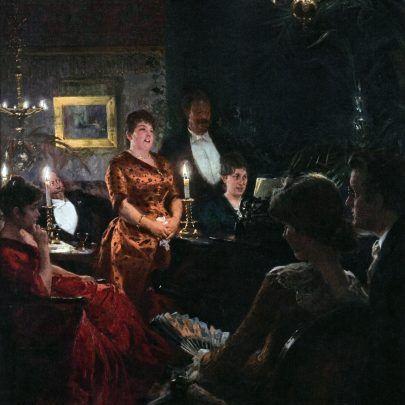 P.S.Krøyer. En duet - 1887