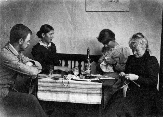 1891 - Valdemar Triepcke, Anna Ancher, Marie Krøyer, Minna Triepcke